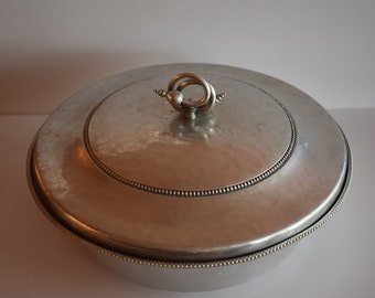 Vintage Hammered Aluminum Covered Casserole
