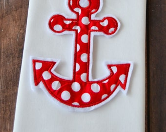 Anchor applique shirt, holidays, custom clothing, applique, embroidery, characters, boys and girls clothing, nautical