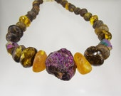 Raw amber necklace. Reserved for Augusta