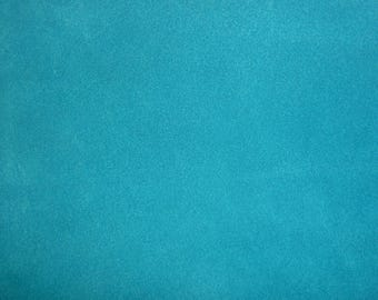"Suede Leather CLOSEOUT shade 2 pieces 8""x10"" Turquoise Blue SUEDE both sides Cowhide #100p 3 oz / 1.4 mm PeggySueAlso™"