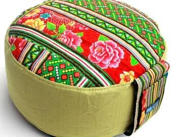 Brandt Design Handmade Unique Cushion Yoga Meditation - Original Zafu Pouf Filled with Organic Spelt Grain