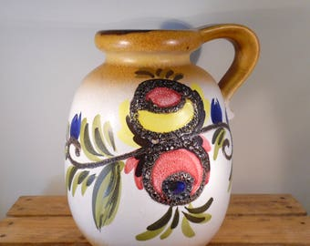 West German Pottery vase by Scheurich, extra large size.