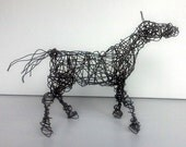 Unique Wire Horse Sculpture -HAPPY PONY- Free USA Shipping