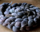 "Fiber Roving 5.9 oz - 50/25/25 Merino/Bamboo/Silk - Autocorrect -  ""Smuggled In Bed For The Night"""