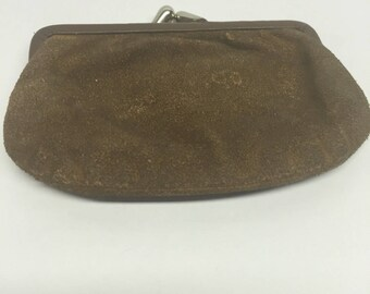 Change purse suede brown sbap closure