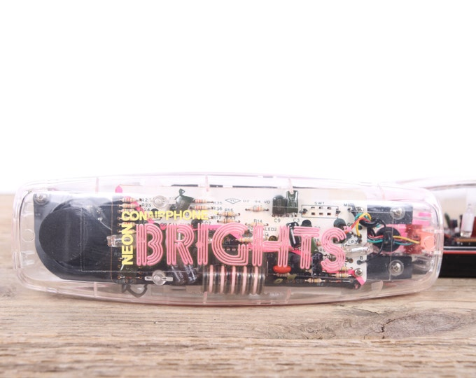 Vintage Conair Neon Brights Phone / 1980s 1990s Clear Phone / Retro Home Decor / Vintage Phone Prop / Pink Phone / Wired Home Phone