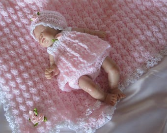 "Crochet doll set to fit 7""-8"" clay baby doll/tiny silicone reborn baby"