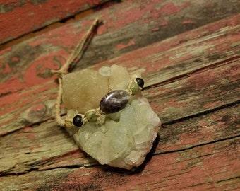 Amethyst Beaded Jewelry, Hemp Beaded Bracelet, Hippie Jewelry, Summer Inspired, Hemp Jewelry, Macrame Bracelet, Gemstone Bracelet