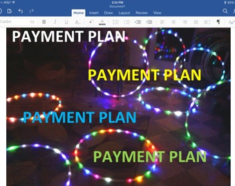 PAYMENT PLAN for LED Hula Hoop