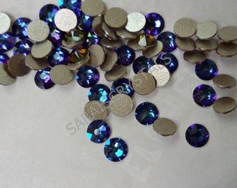 50 pcs Swarovski Flatbacks Crystal Meridian Blue 12ss (3.0 - 3.2mm) SS12 2088 Xirius