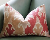 Kelly Wearstler Bengal Bazaar Apricot Pillow Cover. 12 x 18 inch