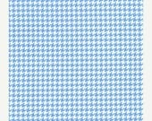 SHOP CLOSING SALE Michael Miller Fabric by the yard Tiny Houndstooth in Boy 1 yard
