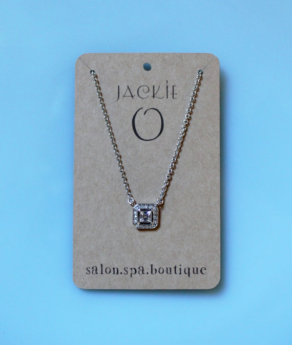 Personalized Jewelry Tags Necklace Cards Custom Price Tags