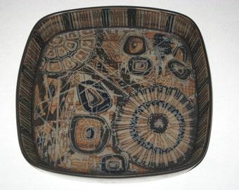 "Royal Copenhagen Large 8.75"" Baca Tray Dish Nils Thorsson  #870/2884 Aluminia - Denmark Fajance Plate Bowl"