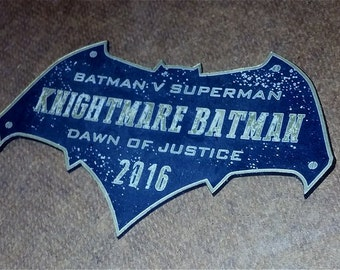 Custom 2016  KNIGHTMARE BATMAN Display Placard Dawn of Justice Superman DOJ