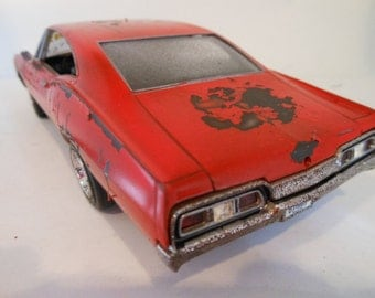 Scale Model Car,Rat Rod,Red Chevy,Classicwrecks,Junked Auto