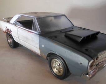 Scale Model Car,Mopar Muscle,Musclecar,Rusted Wreck,Plastic Model,Junkyard Find,Classicwrecks,John Findra