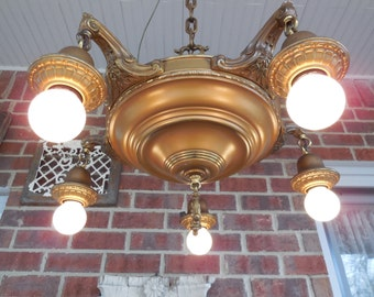 Antique Lighting Arts And Crafts Chandelier Light Fixture