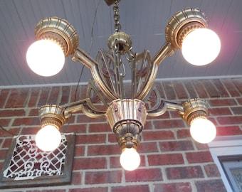 Antique Lighting Art Deco Chandelier Light Fixture