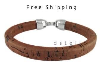 Custom mens bracelet, Cork bracelet, Men's gift, Wine lover gift idea, Anniversary gift, Men's jewelry, First quality Spanish, Vintage look