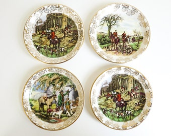 English Midwinter Staffordshire Pin Dishes, Ring Dishes, Tea Bag Holders - Gift for Her Coworker Teacher Friend - Stocking Stuffers
