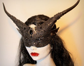 Veiled Goblin Witch Mask