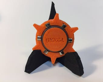 Fidget Spinner  3D Origami ORANGE Omega Star v2 paper ejector for cutting die MP006 and MP007
