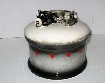 Schnauzer Round Cookie Jar