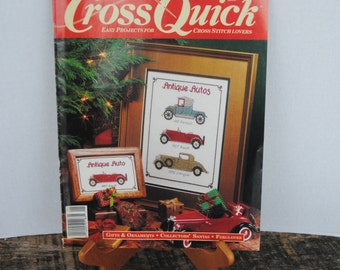Cross Quick Magazine Easy Projects for Cross Stitch Lovers Dec/Jan 1990