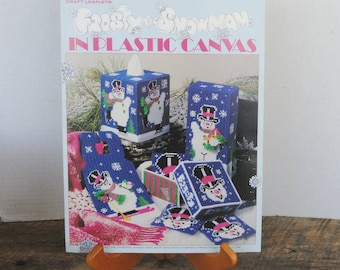 1994 Frosty The Snowman in Plastic Canvas Booklet Leisure Arts