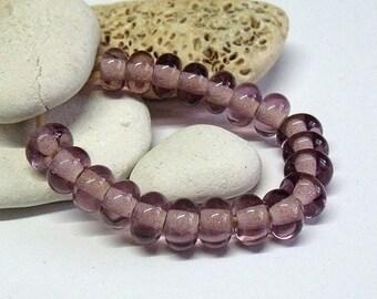 Purple Bottle, Lampwork Spacer Beads, SRA, UK