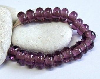 Purple Ice, Lampwork Spacer Beads, SRA, UK