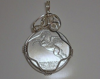 Italy Vintage Coin Pendant 1950