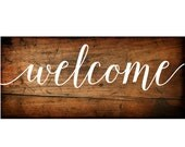 Welcome Sign Vinyl Decal   DIY Wood Signs    Wedding Welcome Sign   DIY Palette Signs