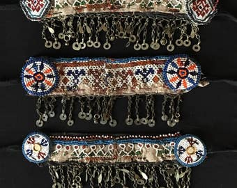 Vintage Afghanistan KUCHI Tribal Beadwork Remnants Jewelry Parts Chain Costume Supply Belly Dance Uber Kuchi®