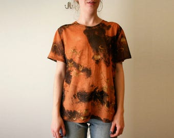 90s Sheer Orange Rave Club Kid T Shirt Tee
