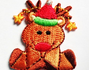 Iron On Patch Applique - Reindeer.