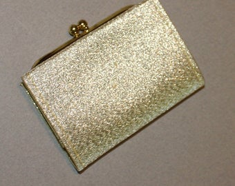 Beautiful, Vintage, Lady Buxton, Gold Lame Wallet