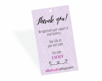 Hang Tags Thank You Tags Shop Tags Small Business