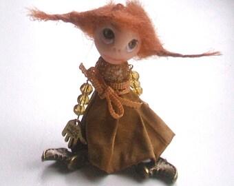 Doll-brooch Dancing - Doll brooch - Brooch doll - Handmade - Brooch girl- funny doll brooch- OOAK - Brooch