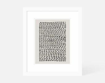 Vertical Minimalist Art / Modern Art Vertical / Neutral Art Print Large / Framed and Matted / 18x24 16x20 11x14 8x10 5x7