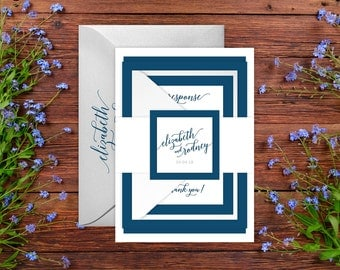 Wedding Invitations - DEPOSIT TO START Classic Calligraphy Suite -Custom Wedding Invites - Personalized Wedding Invitations - Wedding Suites