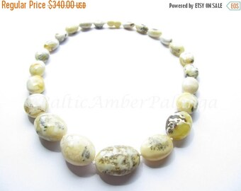 17%OFF--CHRISTMAS SALE Unique Baltic Amber Bean Shape White Color Beads