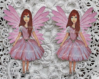 Reneabouquets Fairy Tale Die Cut Set~Aviana Choose Your Size 4 Inches Tall  x 2 3/4 Inches Wide  or 3 1/2 Inches Tall x 2 1/4 Inches Wide