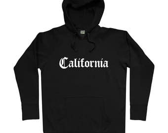 California Gothic Hoodie - Men S M L XL 2x 3x - Gift For Men, Gift for Her, California Hoodie, Los Angeles Hoodie, San Francisco, San Diego