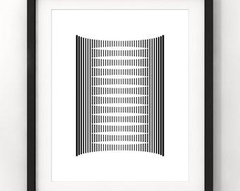 Downloadable Art, Simple Geometric Form, Home Decor, Minimalist Art, Modern Art, Black and White, Printable Download