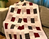 This Is A Custom Ordered Memory Quilt For Evelyn Mitchell