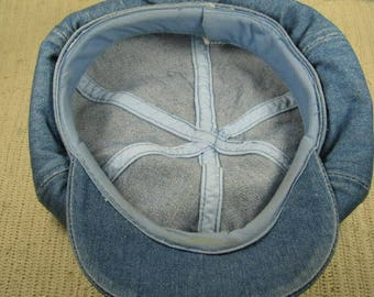Vtg 70's denim Super Fly cap size L-XL