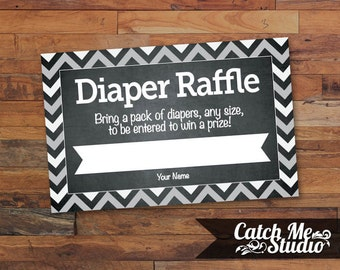 Printable Diaper Raffle Ticket INSTANT DOWNLOAD