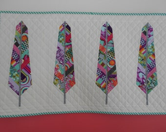Feather Quilted Wall Hanging